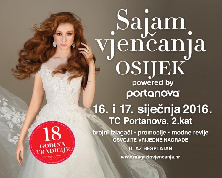 Sajam vjenčanja u Osijeku 16. i 17. siječnja